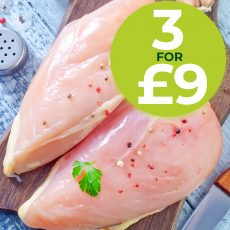 Fresh Chicken offer 3 for £9