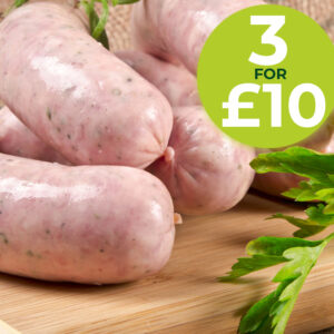 Fresh Sausages 3 for £10 Offer